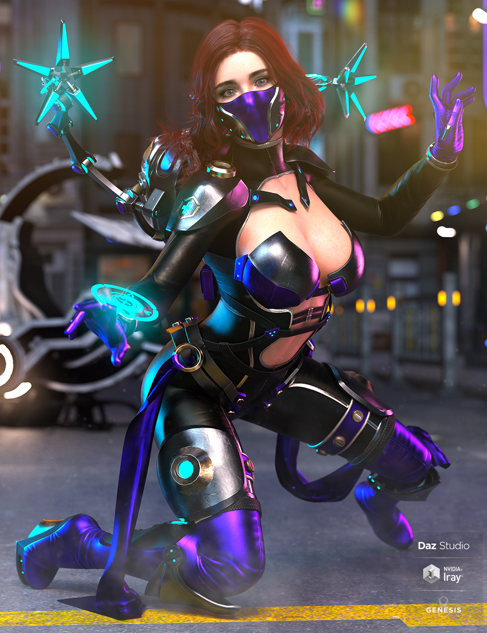 dForce Dr Dark Outfit for Genesis 8 Female(s) by: HM, 3D Models by Daz 3D