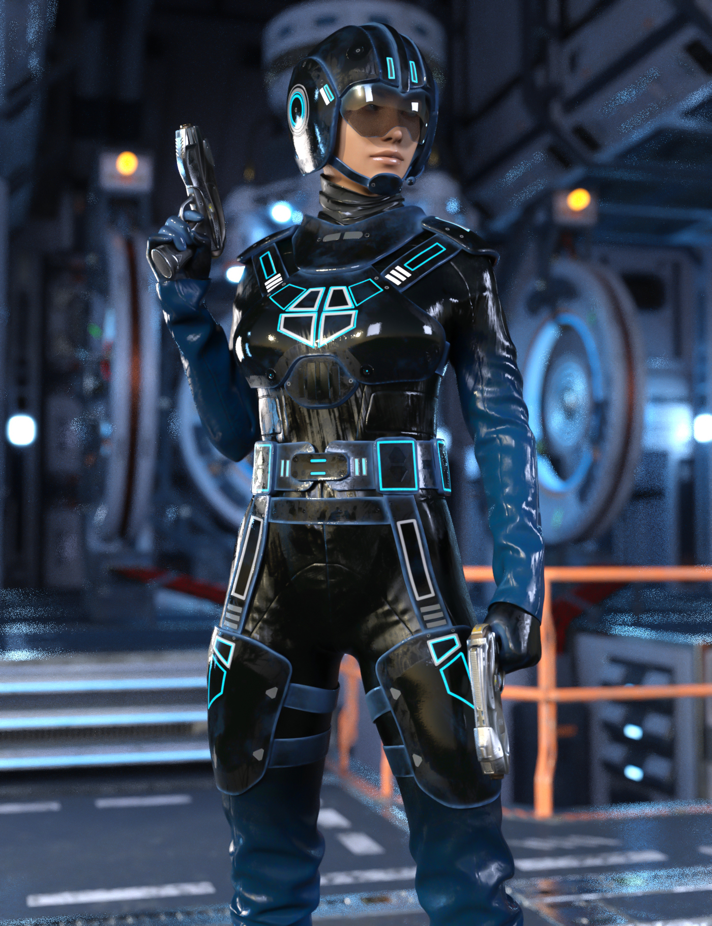 Space Runner Outfit for Genesis 8 Female(s) by: Yura, 3D Models by Daz 3D