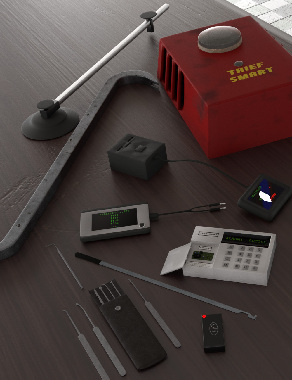 Thief Tools by: Silent Winter, 3D Models by Daz 3D