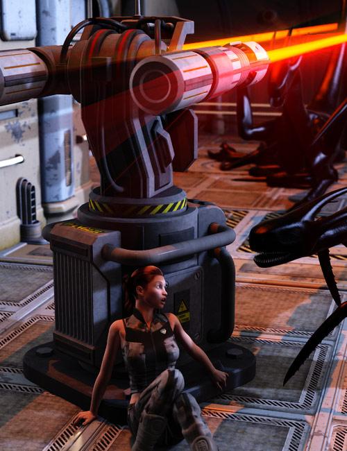Praetorian Autoturret by: Nightshift3D, 3D Models by Daz 3D