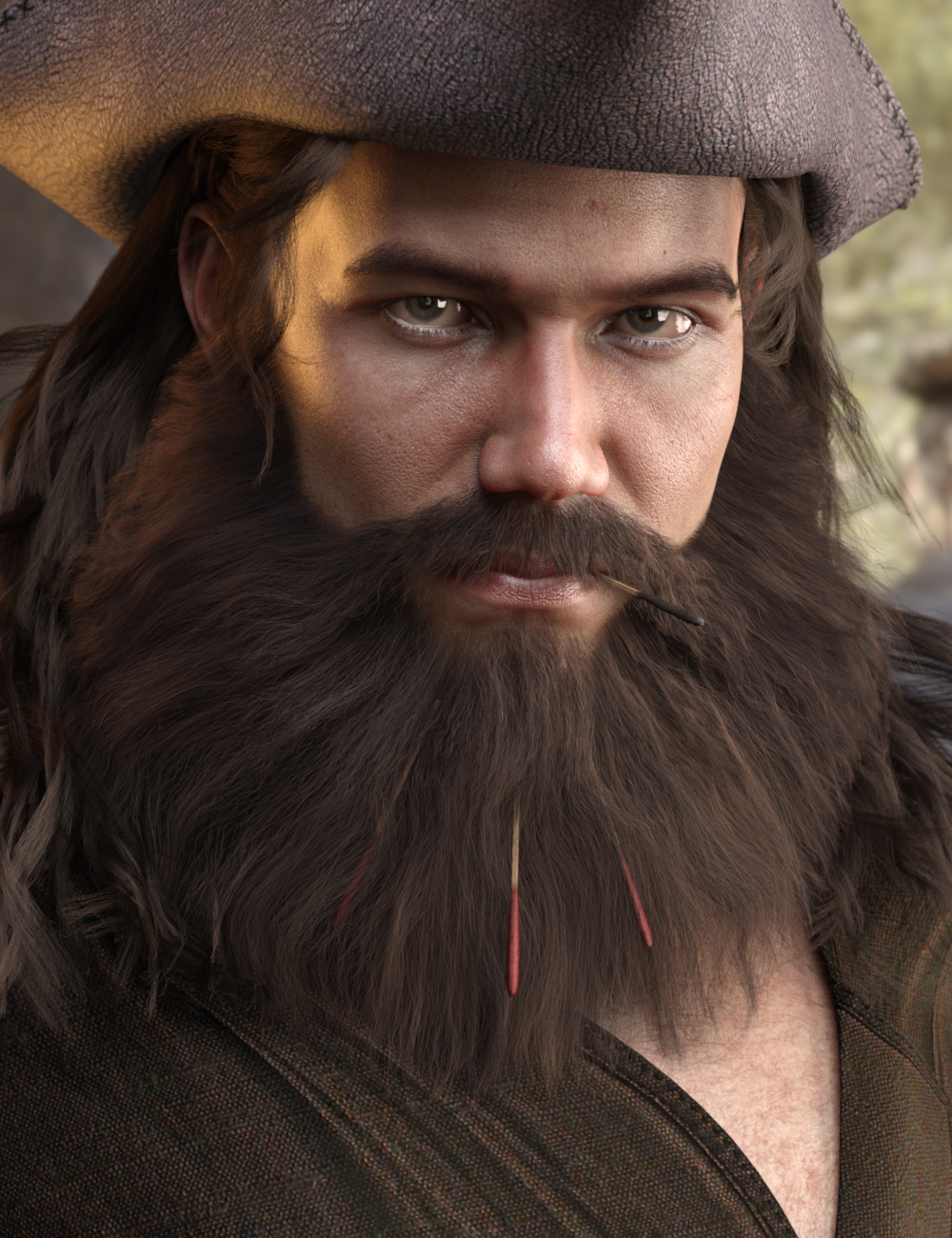 Volta Hair and Beard for Genesis 8 by: AprilYSHLaticis Imagery, 3D Models by Daz 3D