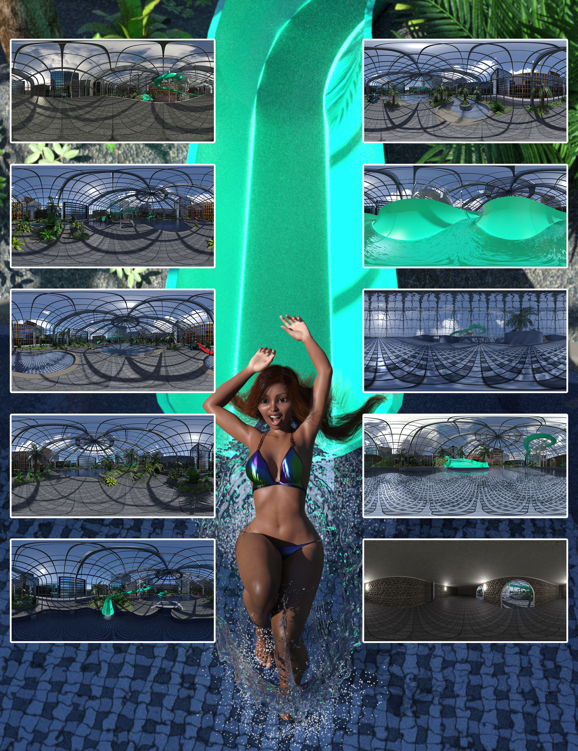 Fantasy IBL - Penthouse Water Park HDRI by: Denki Gaka, 3D Models by Daz 3D