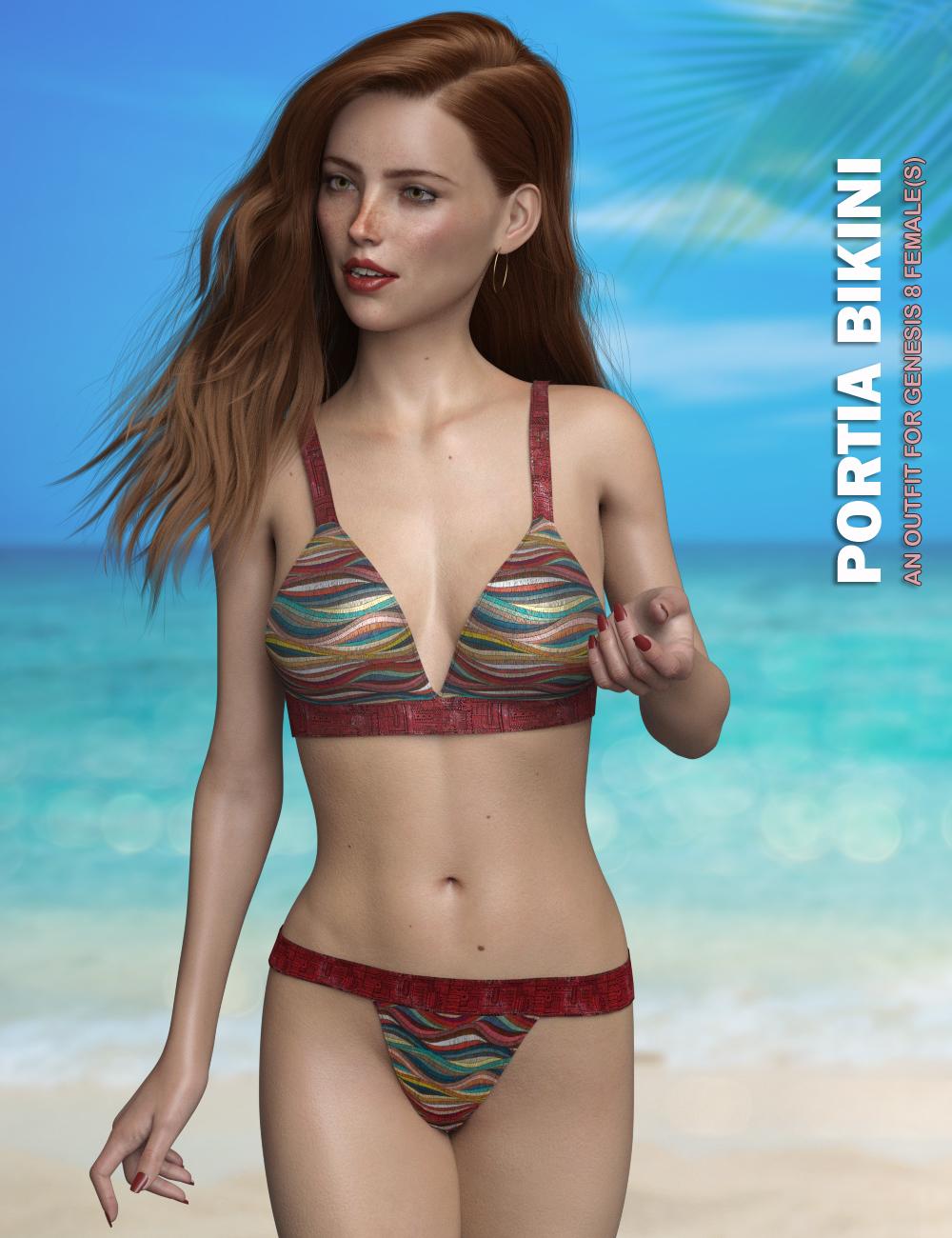 P3D Portia Bikini Outfit for Genesis 8 Female(s) by: P3Design, 3D Models by Daz 3D