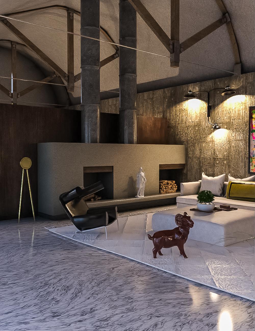 Lakehouse Lounge by: clacydarch3d, 3D Models by Daz 3D