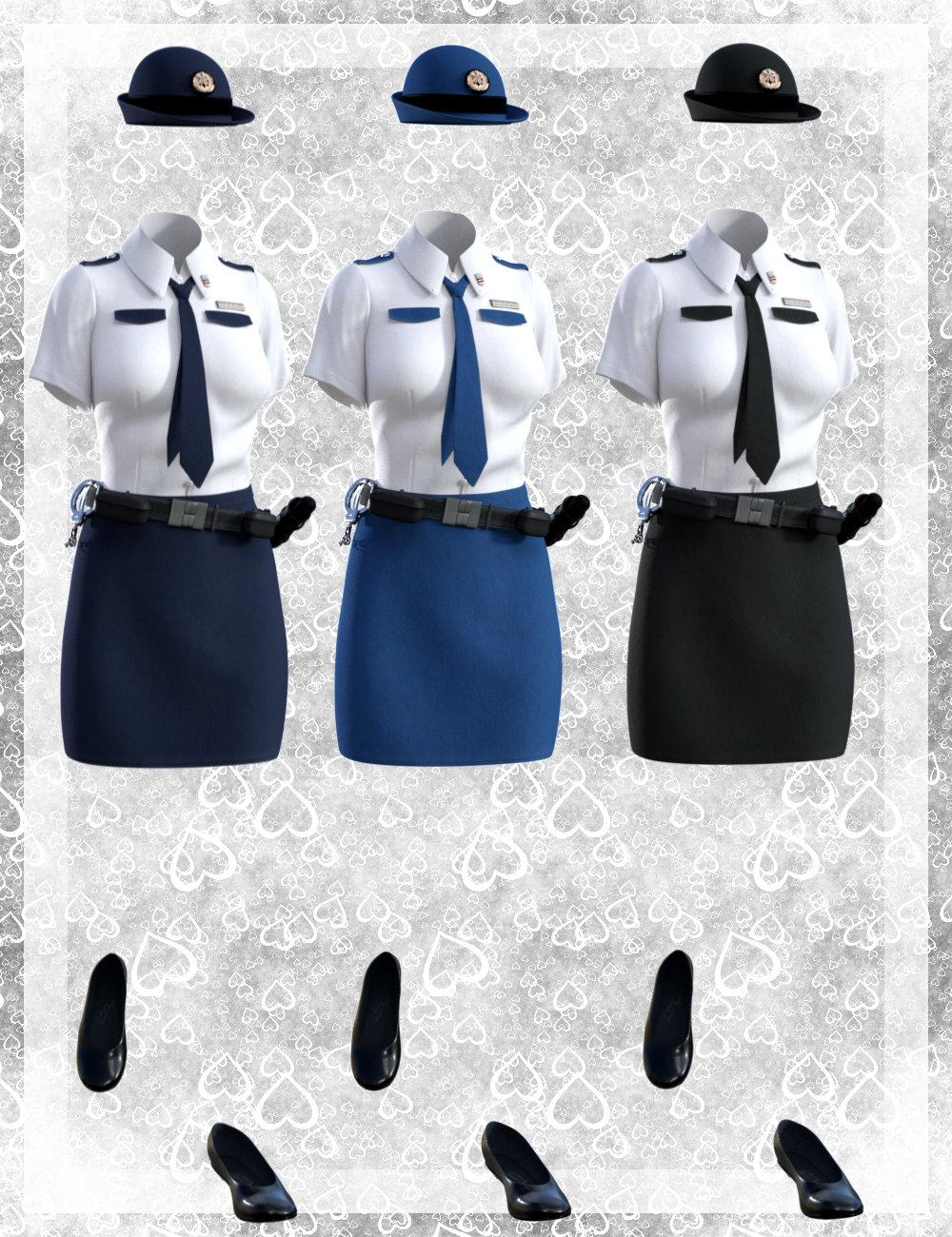 dForce Police Uniform for Genesis 8 Female(s) by: tentman, 3D Models by Daz 3D