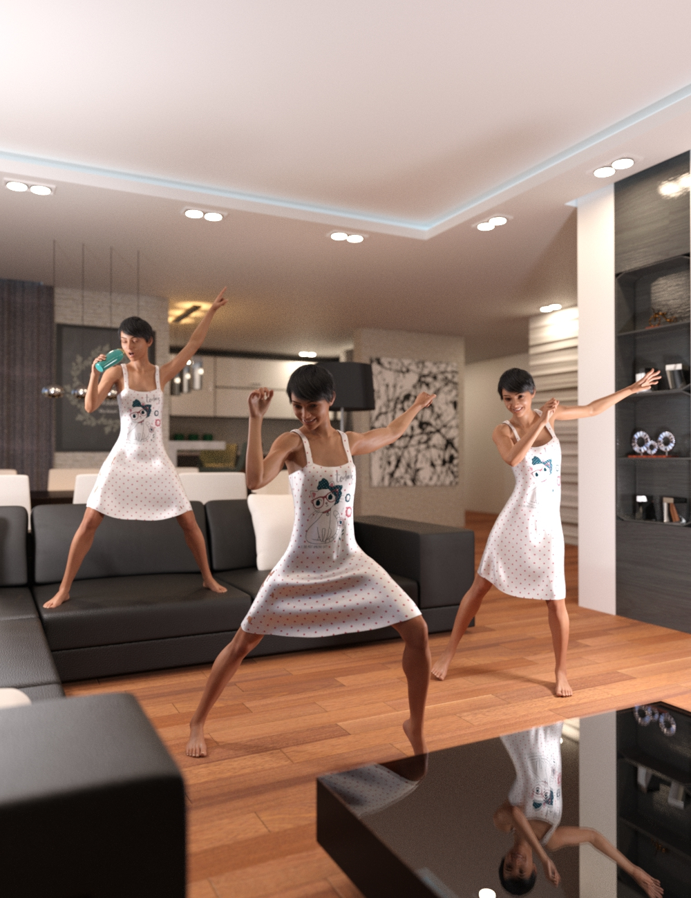 Dance Like Nobody's Watching Poses for Genesis 8 Female by: Scuffles3d, 3D Models by Daz 3D
