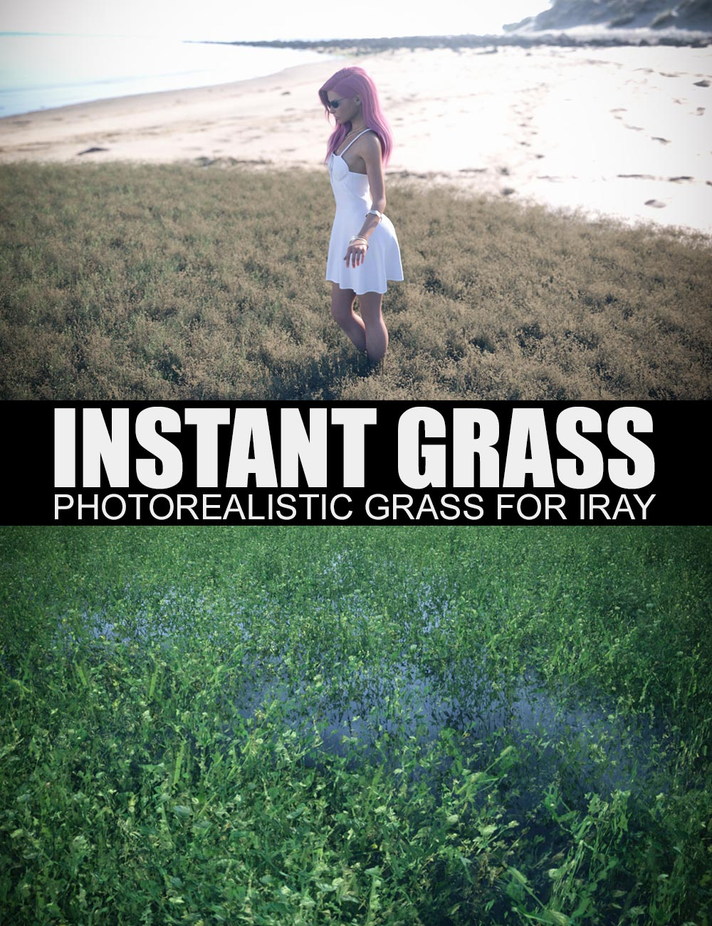 Instant Grass - Photorealistic Grass For Iray by: Dreamlight, 3D Models by Daz 3D