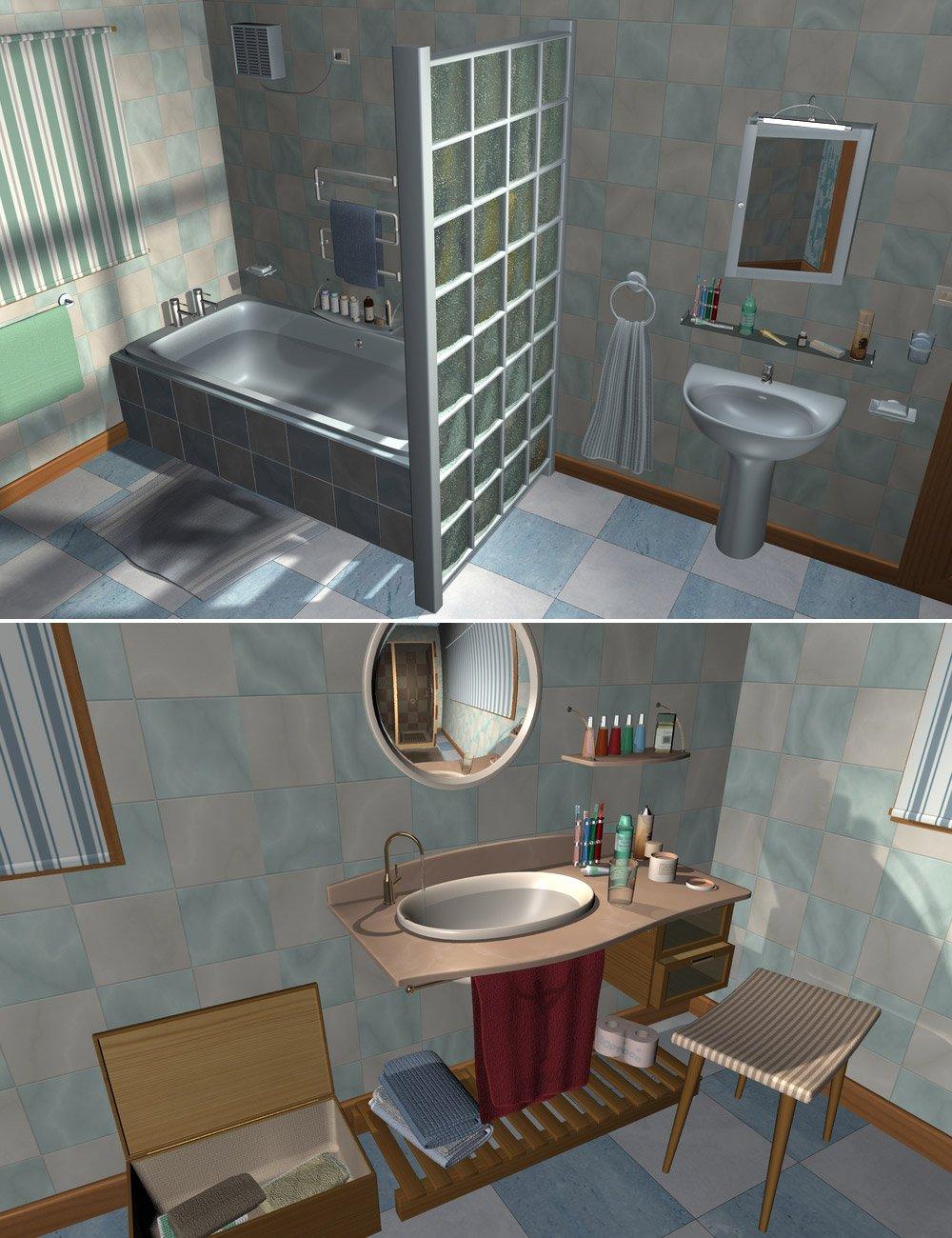 Home One Bathroom by: maclean, 3D Models by Daz 3D