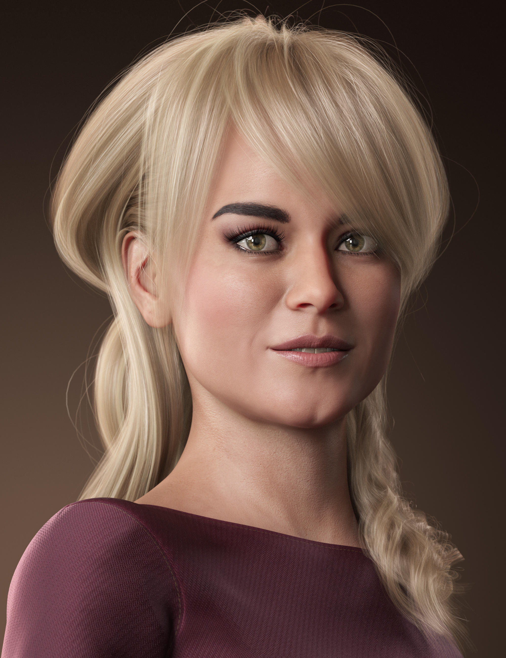 Back Updo Hair for Genesis 3 and 8 Female(s) by: outoftouch, 3D Models by Daz 3D