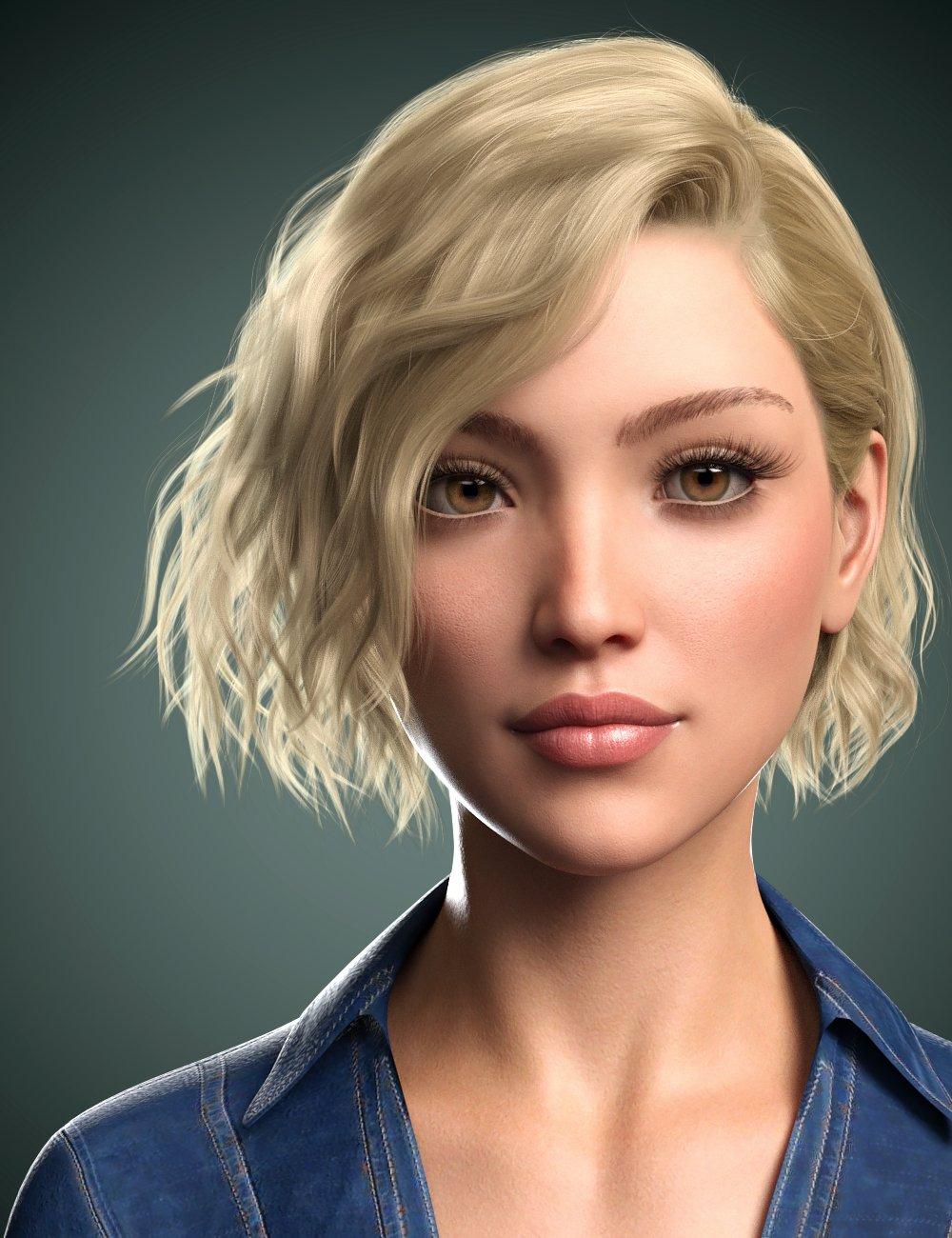 Karla Hair for Genesis 8 Female(s) by: WindField, 3D Models by Daz 3D