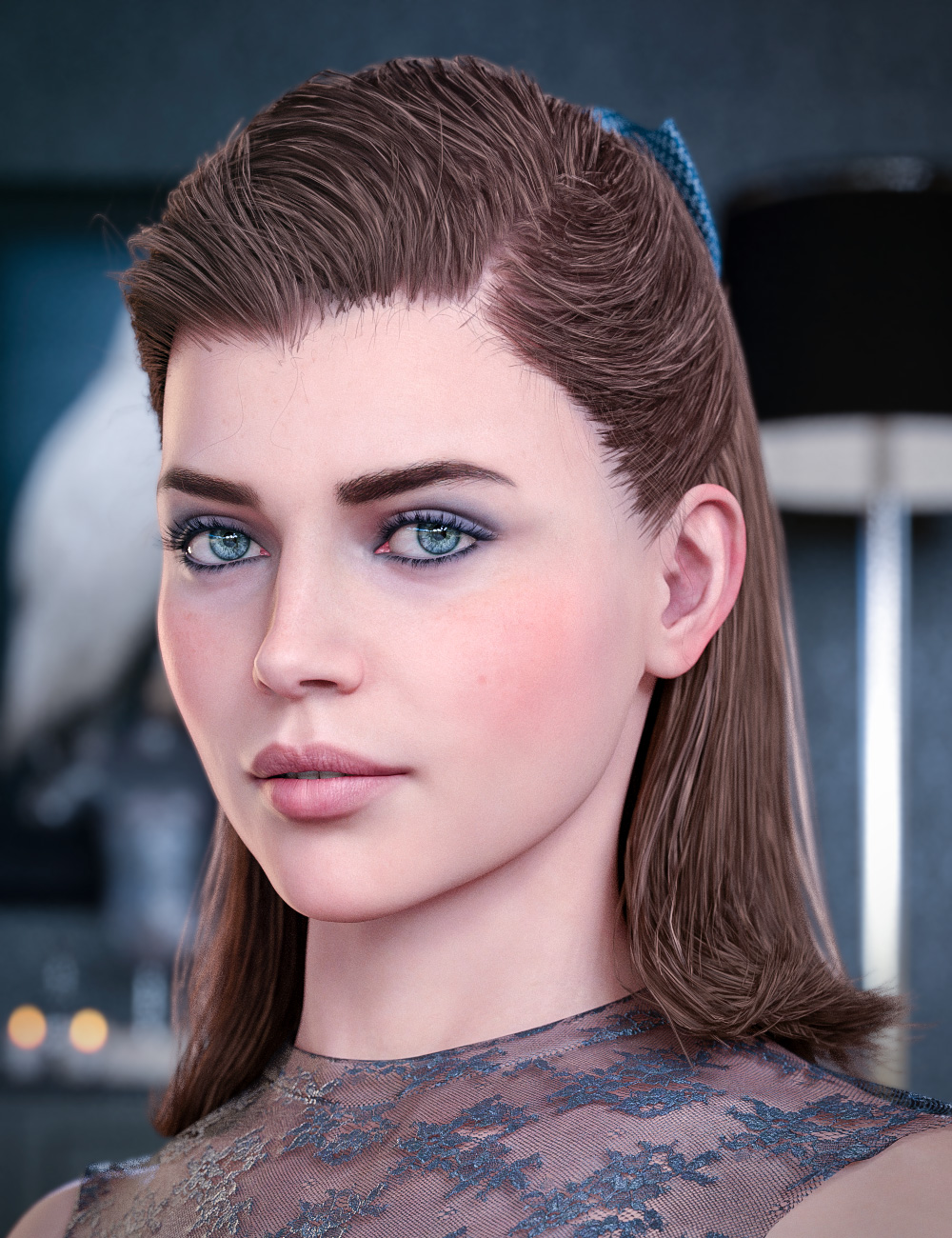 Kelya Good Girl Hair for Genesis 8 Females by: Neftis3D, 3D Models by Daz 3D