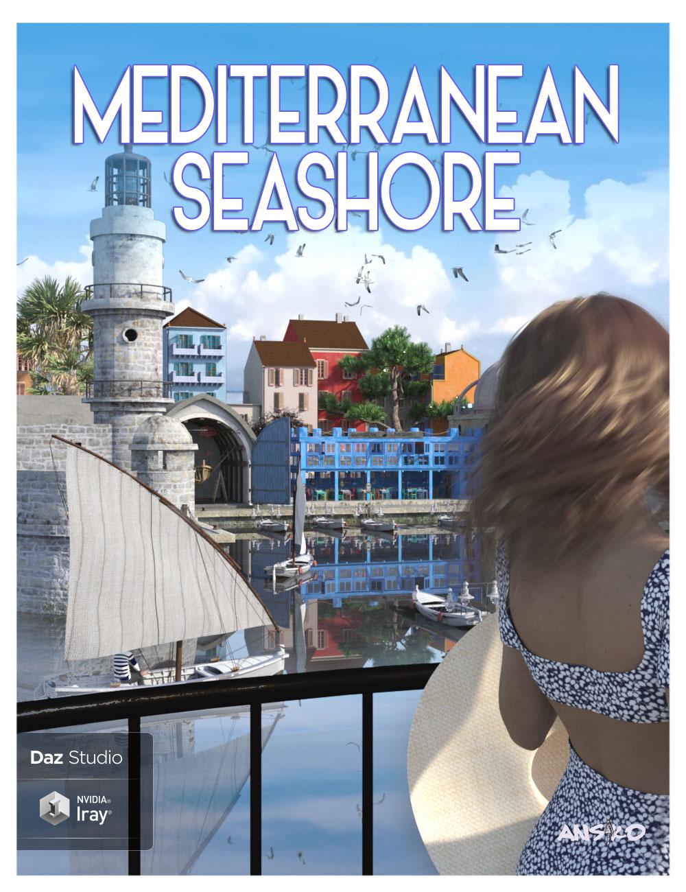 Mediterranean Seashore by: Ansiko, 3D Models by Daz 3D