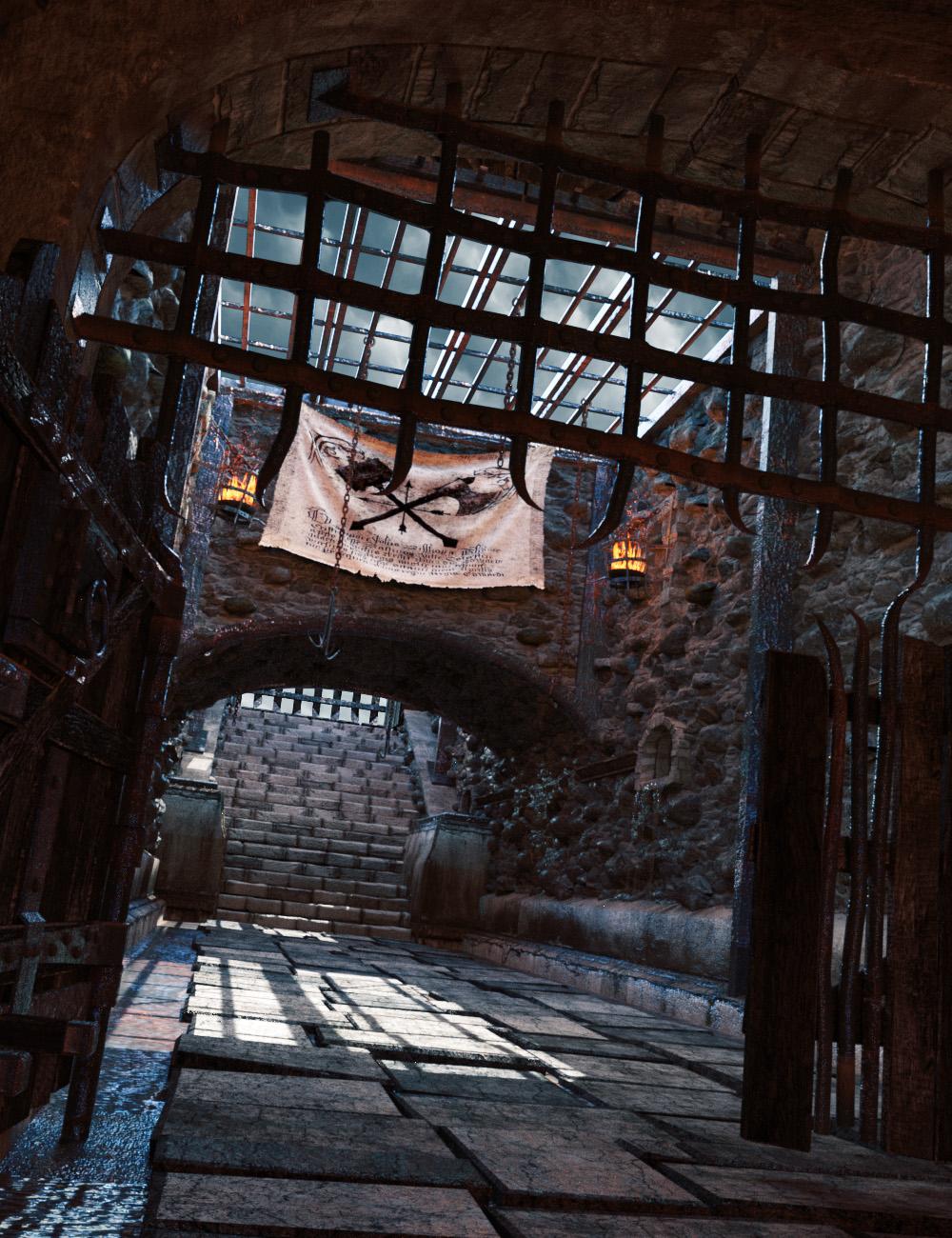 Castle Gravestone Halls by: The Management, 3D Models by Daz 3D