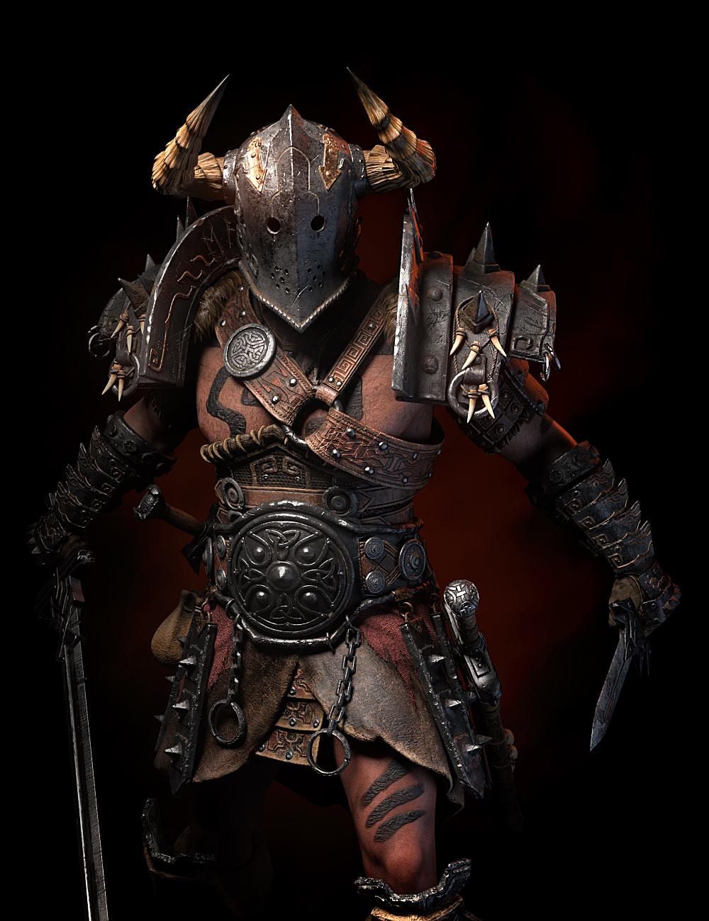 STF Bone Breaker Armor for Genesis 8 Male(s) by: StrangefateRoguey, 3D Models by Daz 3D