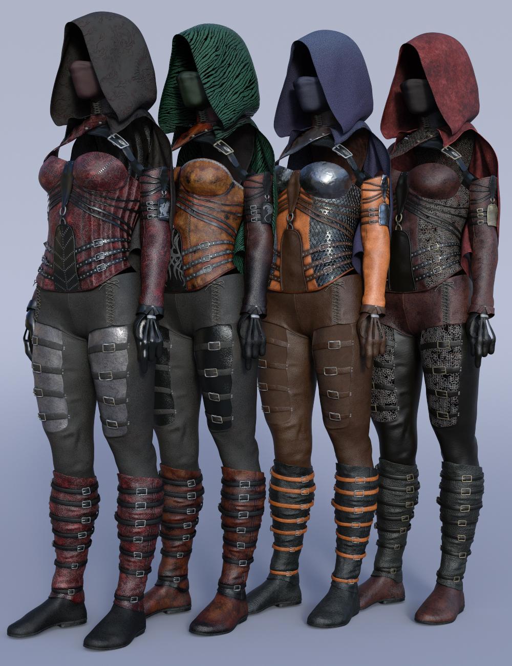 dForce Crimsoneye Outfit Textures by: Moonscape GraphicsSade, 3D Models by Daz 3D