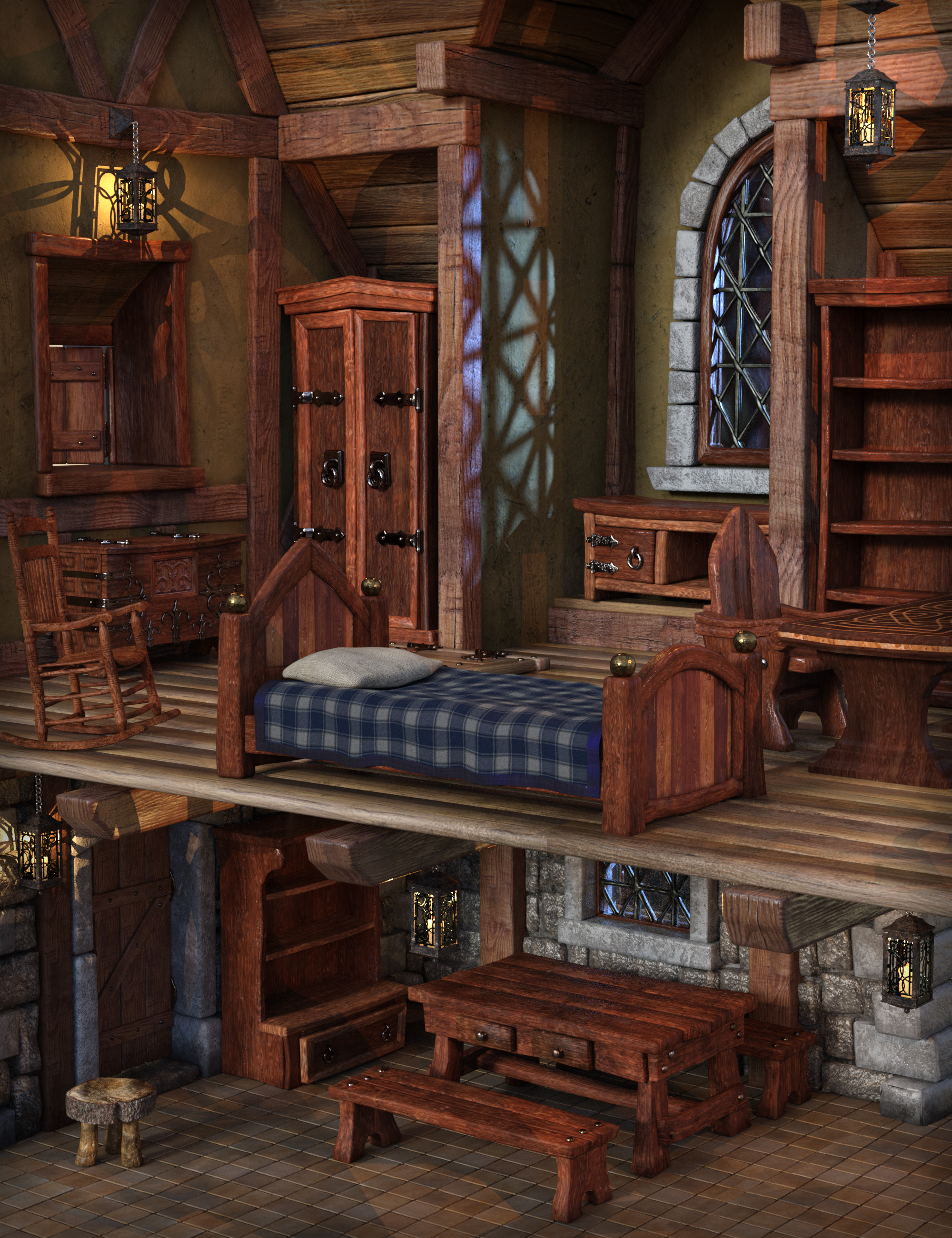 Fairytale Furniture by: The Alchemist, 3D Models by Daz 3D