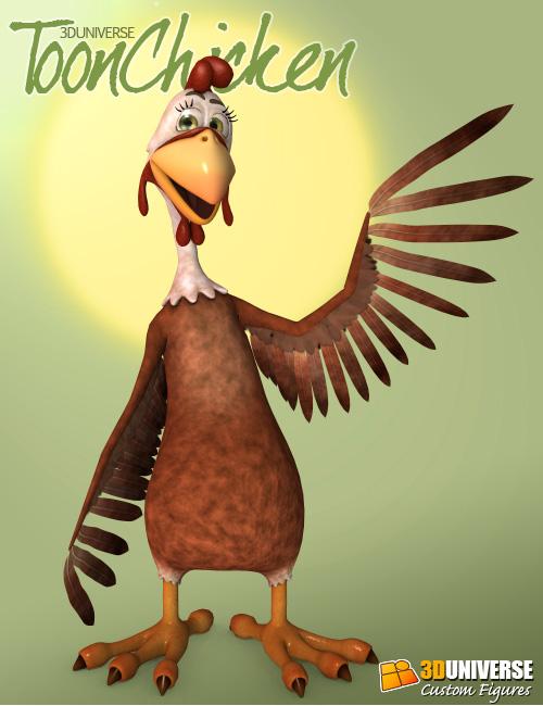 3D Universe Toon Chicken by: 3D Universe, 3D Models by Daz 3D