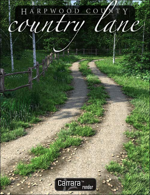Country Lane by: HowieFarkes, 3D Models by Daz 3D