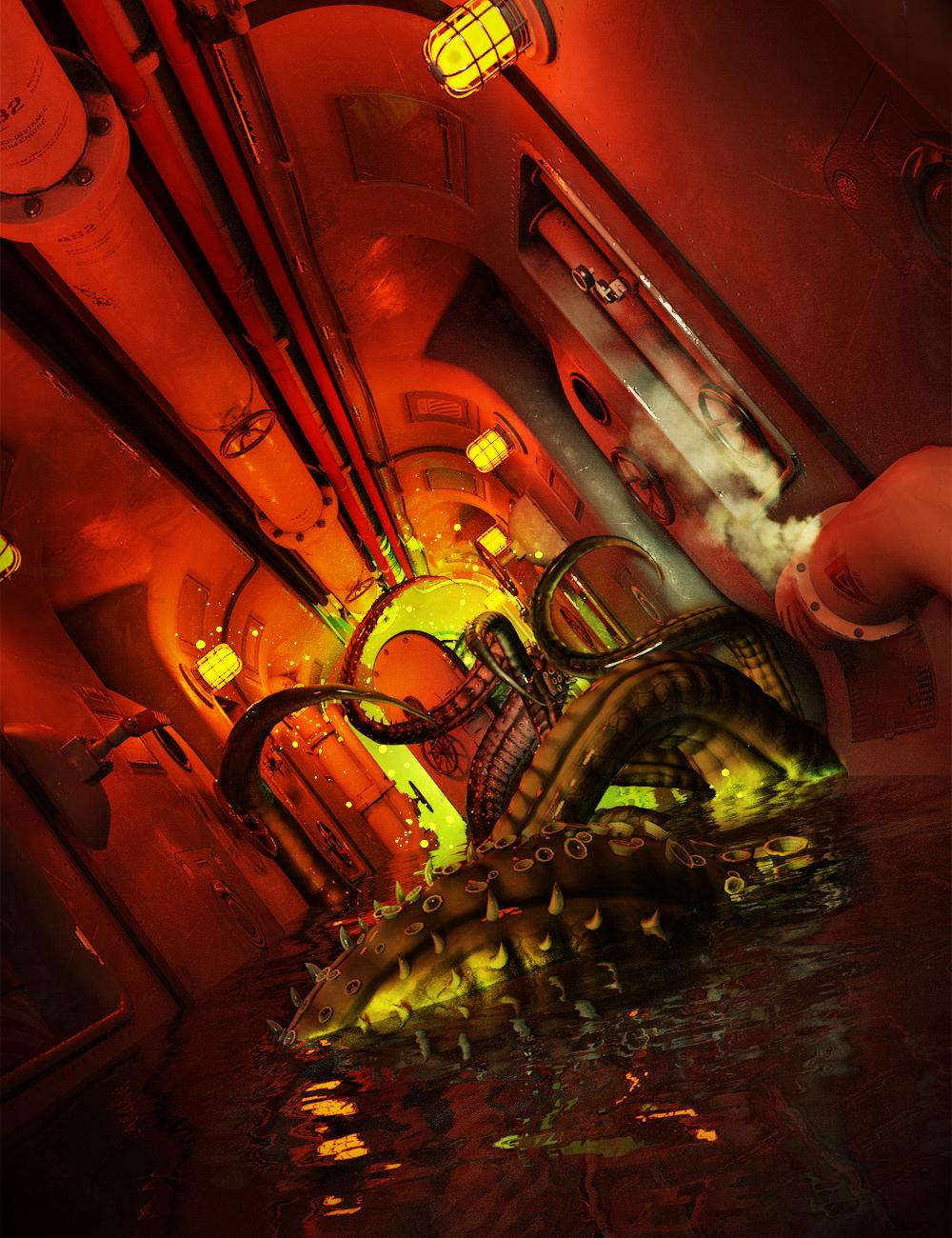 Submarine Corridor Kit by: The AntFarm, 3D Models by Daz 3D