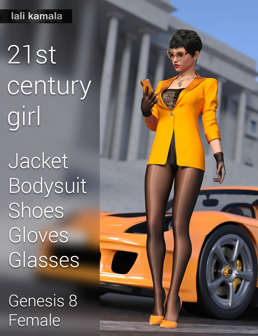 21st Century Girl Outfit for Genesis 8 Female(s) by: Lali Kamala, 3D Models by Daz 3D