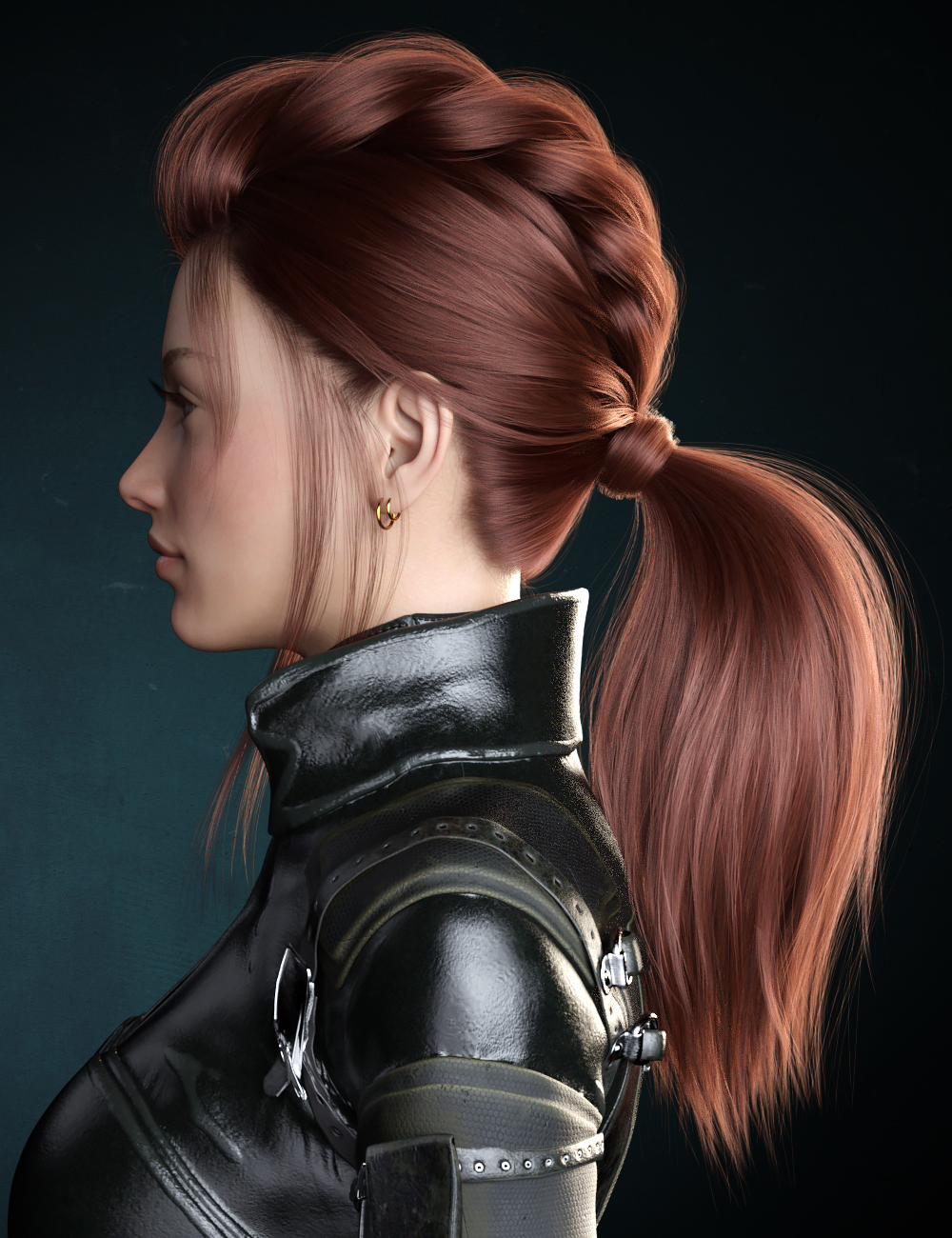Kelly Hair for Genesis 8 Female(s) by: WindField, 3D Models by Daz 3D