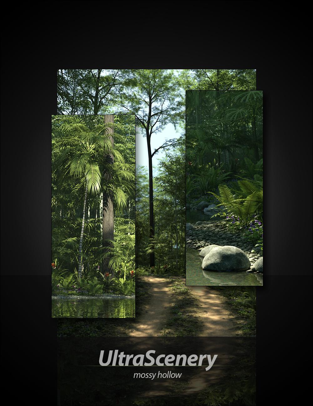 UltraScenery - Mossy Hollow by: HowieFarkes, 3D Models by Daz 3D