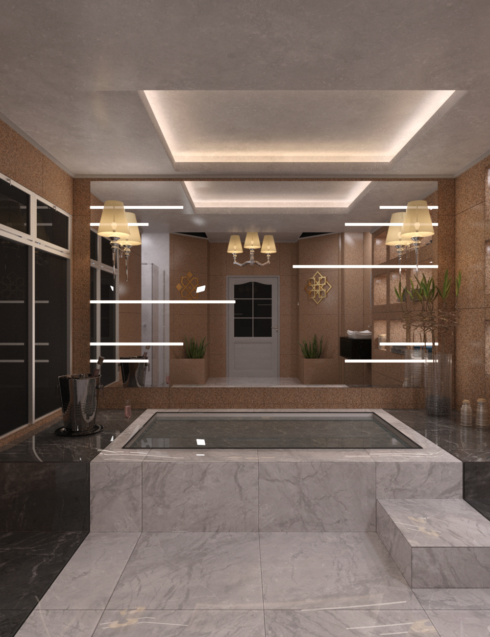 Deluxe Jacuzzi Room by: fjaa3d, 3D Models by Daz 3D