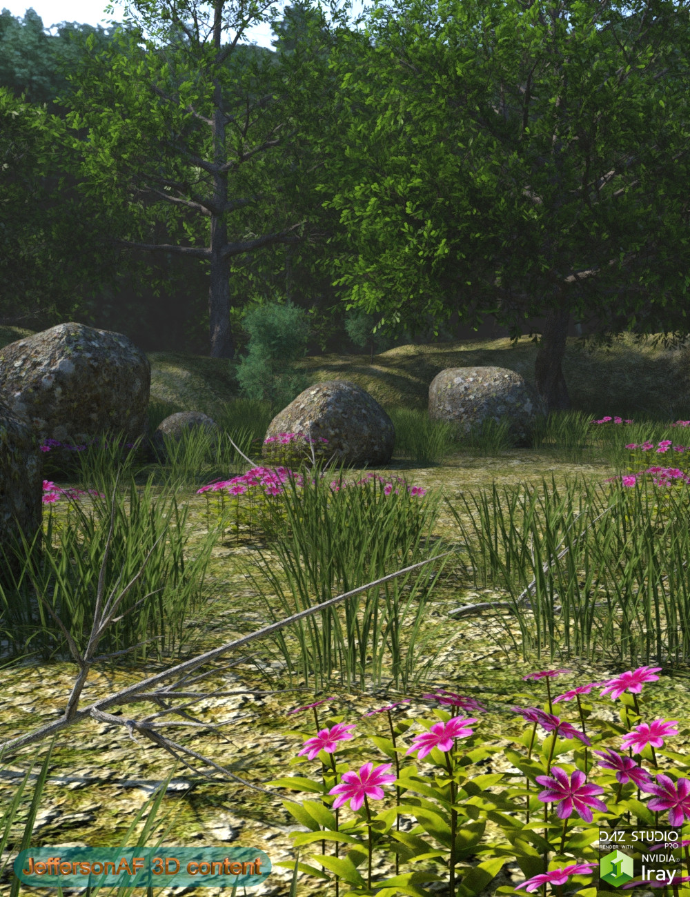 My Corner in the Forest by: JeffersonAF, 3D Models by Daz 3D