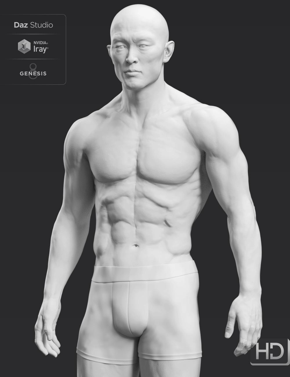 Kwan 8 HD Add-On by: , 3D Models by Daz 3D
