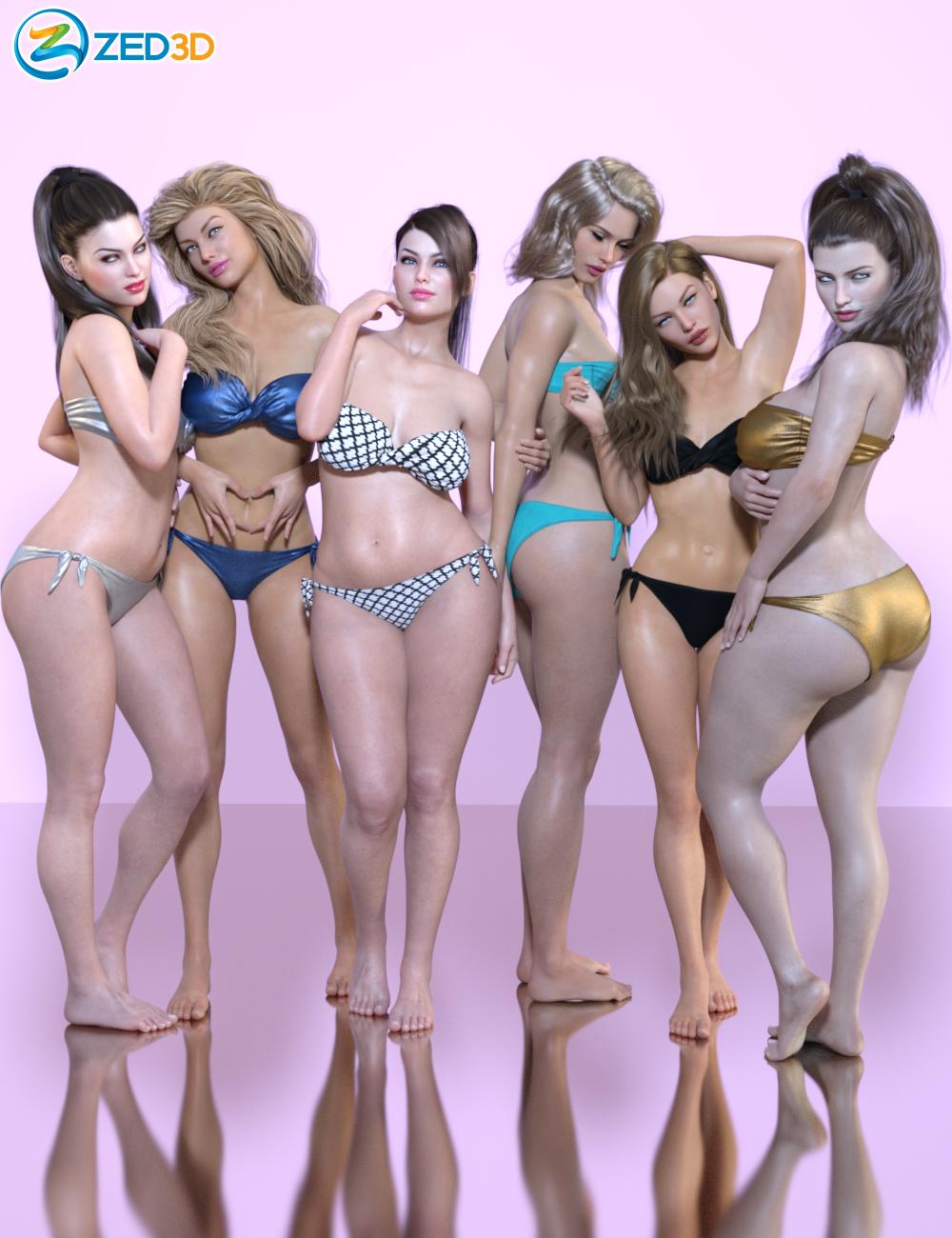 Z Stunning and Unique Shape and Pose Mega Set for Genesis 8 Female by: Zeddicuss, 3D Models by Daz 3D