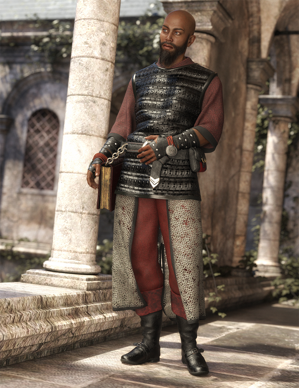 dForce Cleric Outfit for Genesis 8 Male(s) by: MadaMoonscape GraphicsSade, 3D Models by Daz 3D