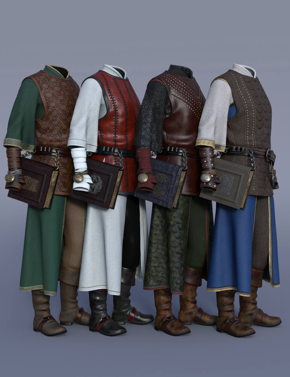 dForce Cleric Outfit Textures by: Moonscape GraphicsSade, 3D Models by Daz 3D