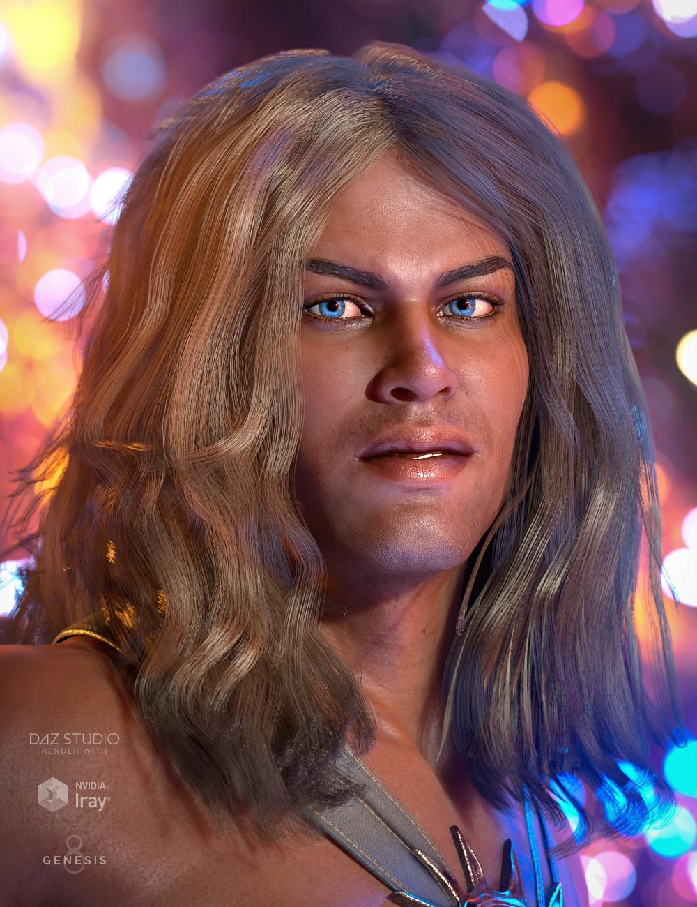 Atlas Hair for Genesis 8 Male by: Propschick, 3D Models by Daz 3D