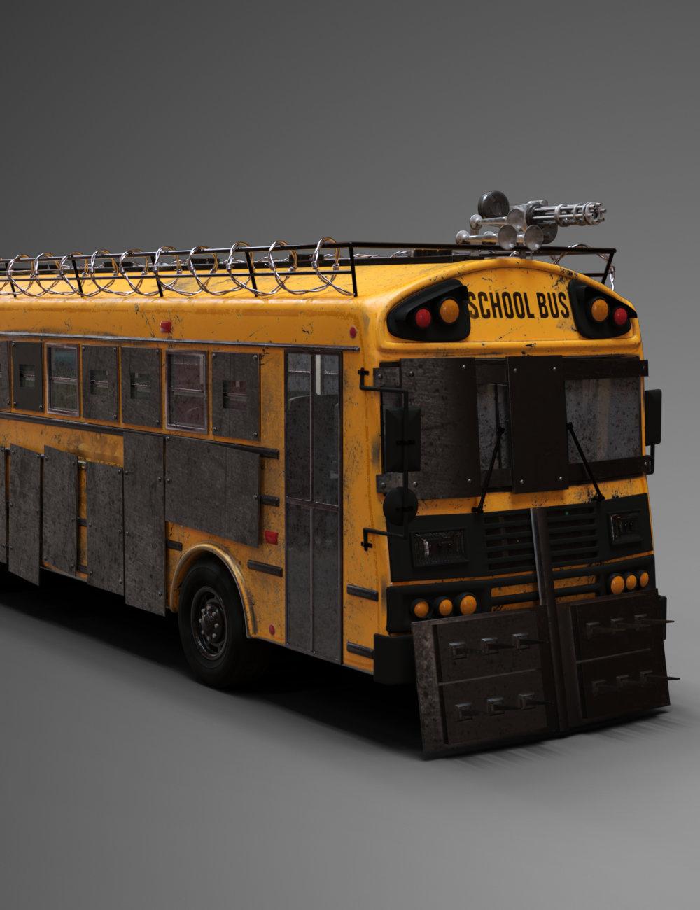 FG Zombie Bus by: Fugazi1968Ironman, 3D Models by Daz 3D