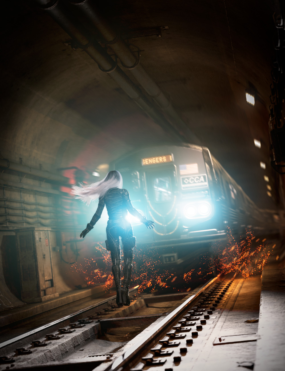 Subway Tunnel Environment by: Dekogon Studios, 3D Models by Daz 3D