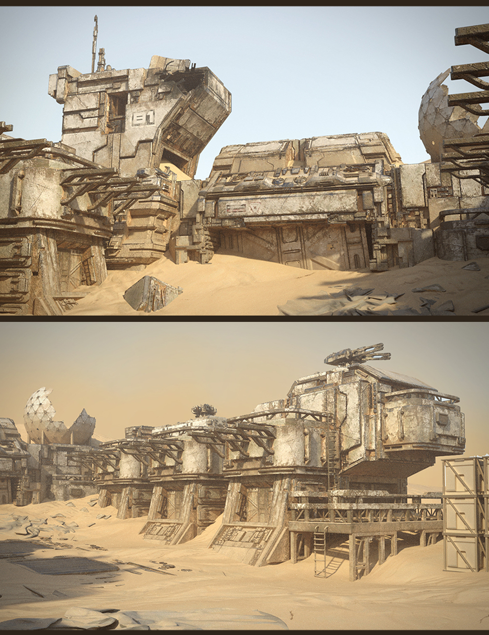 Sci-Fi Abandoned Outpost by: Polish, 3D Models by Daz 3D