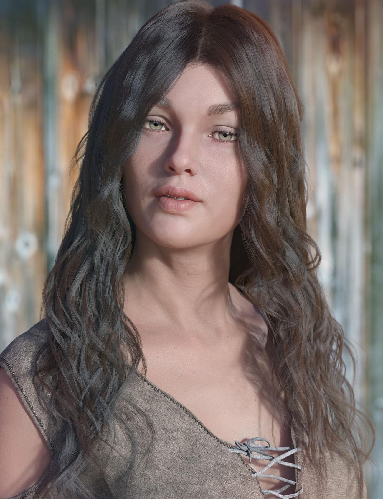 dForce Ezra Hair for Genesis 8