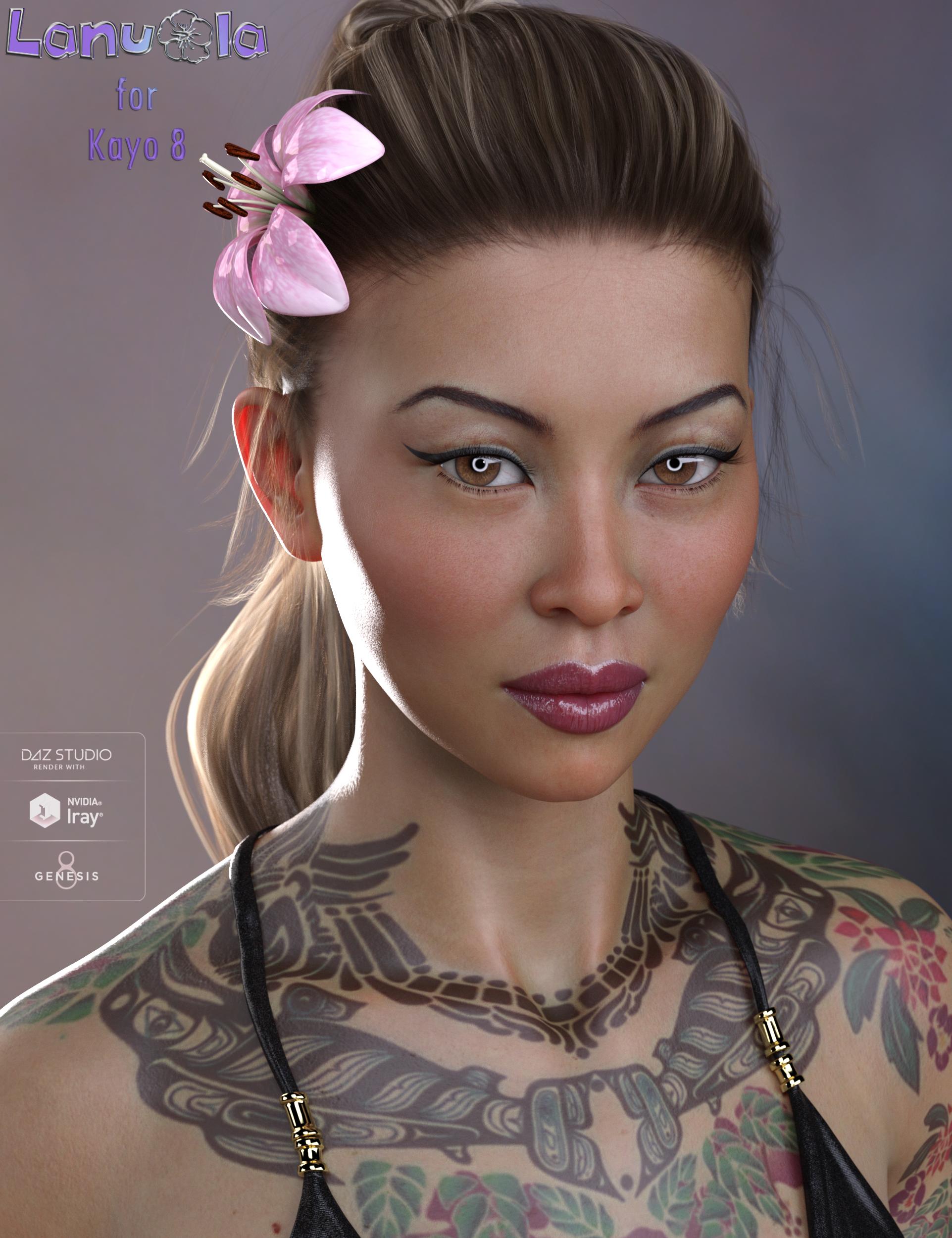 Lanuola HD for Kayo 8 by: MorrisEmrys, 3D Models by Daz 3D