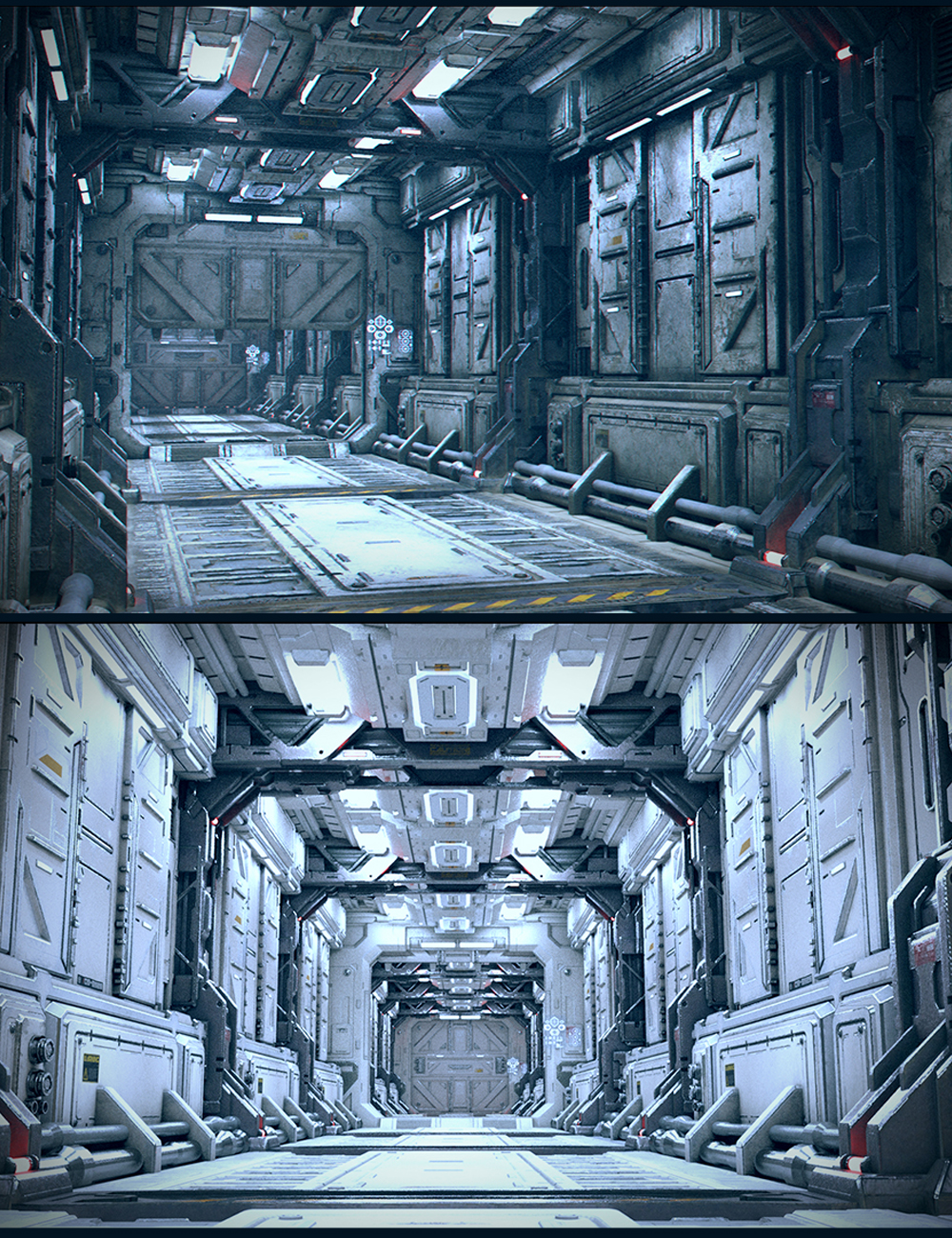 Sci-Fi Reactor Corridor by: Polish, 3D Models by Daz 3D
