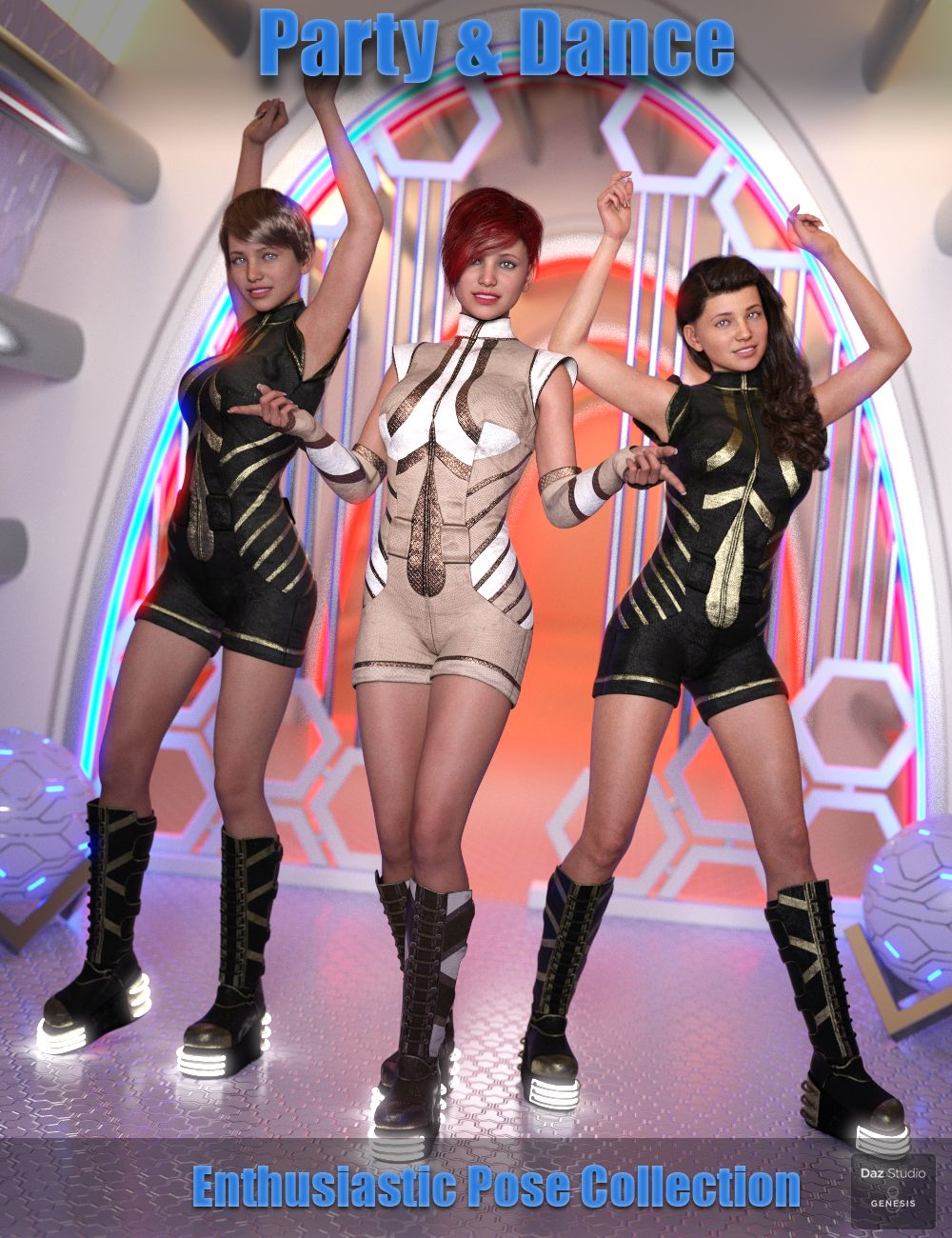 Party and Dance Poses for Genesis 8 Female by: Paper TigerFugazi1968Ironman, 3D Models by Daz 3D