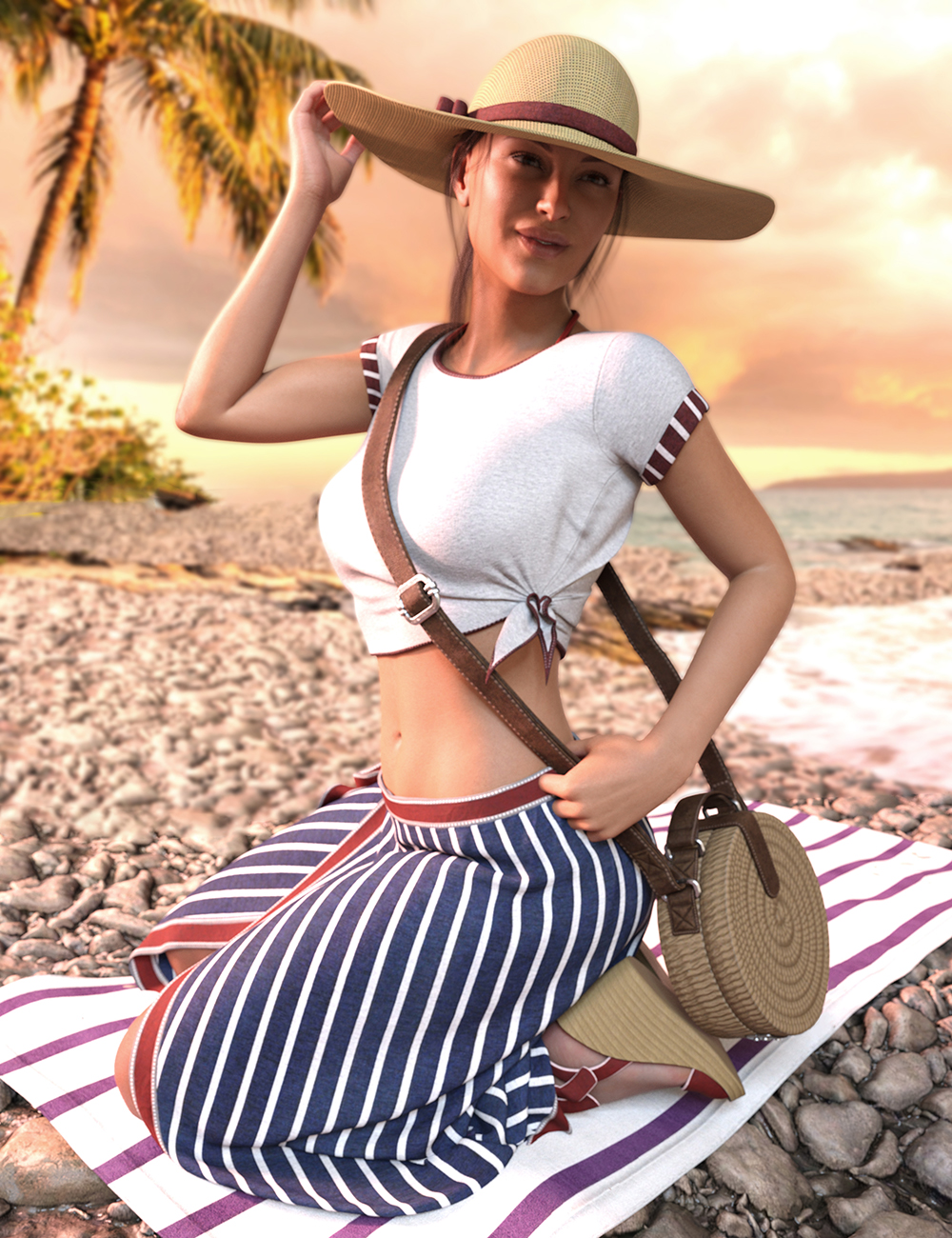 It's Always Summer Poses and Props for Genesis 8 Females by: Luthbellina, 3D Models by Daz 3D