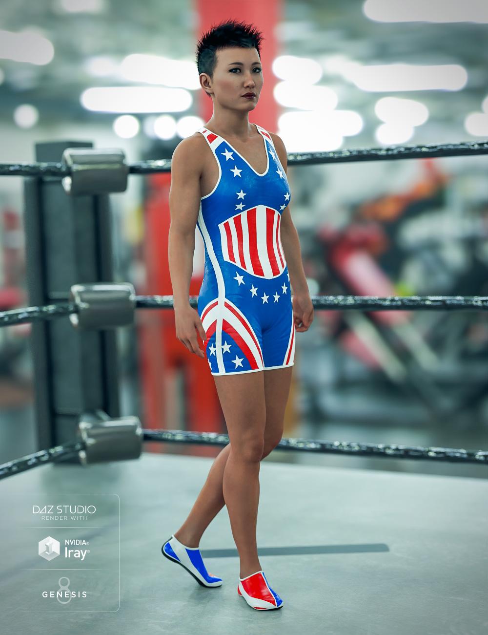 Amateur Wrestler Outfit Textures by: Sixus1 Media, 3D Models by Daz 3D