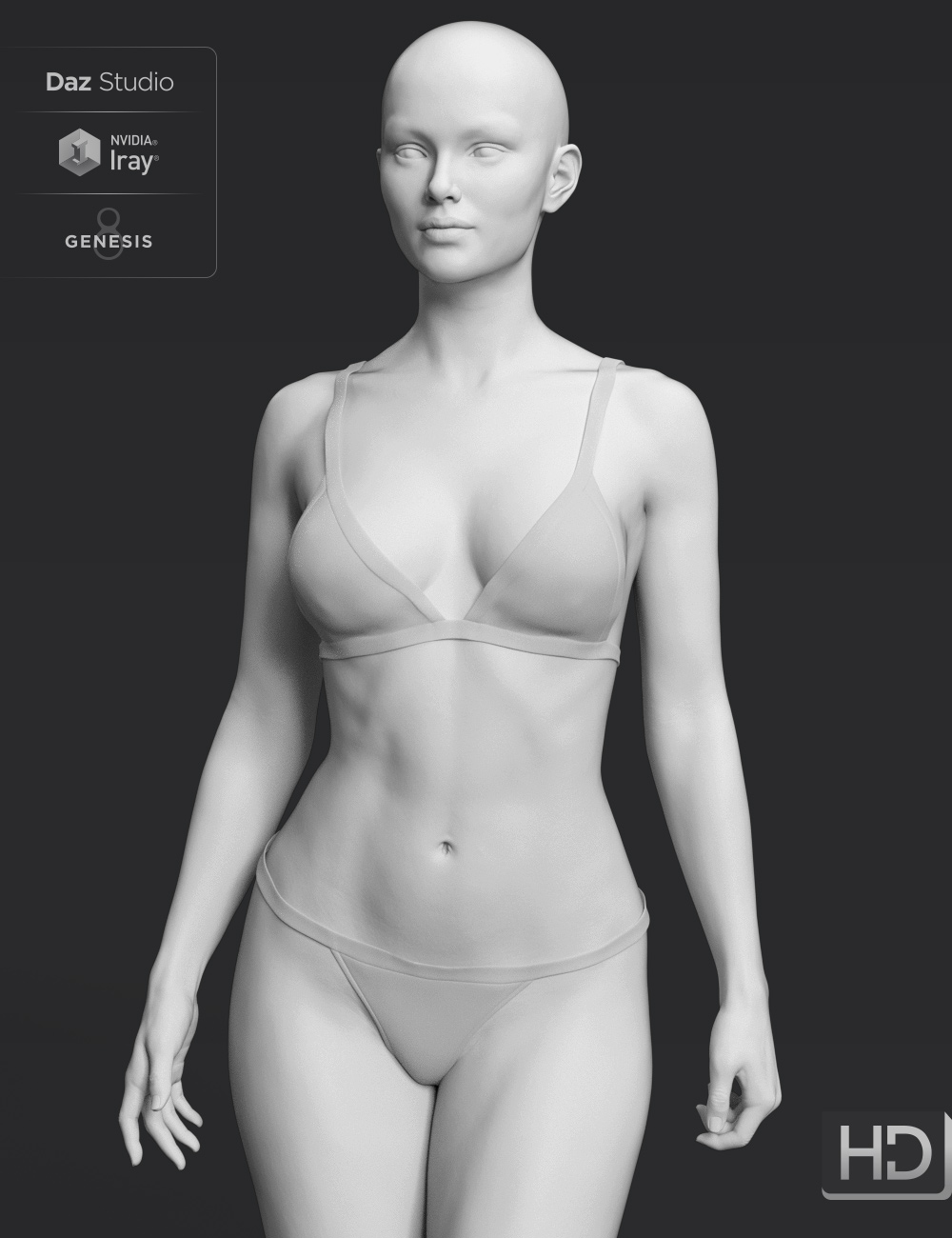 Honni 8 HD Add-On by: , 3D Models by Daz 3D