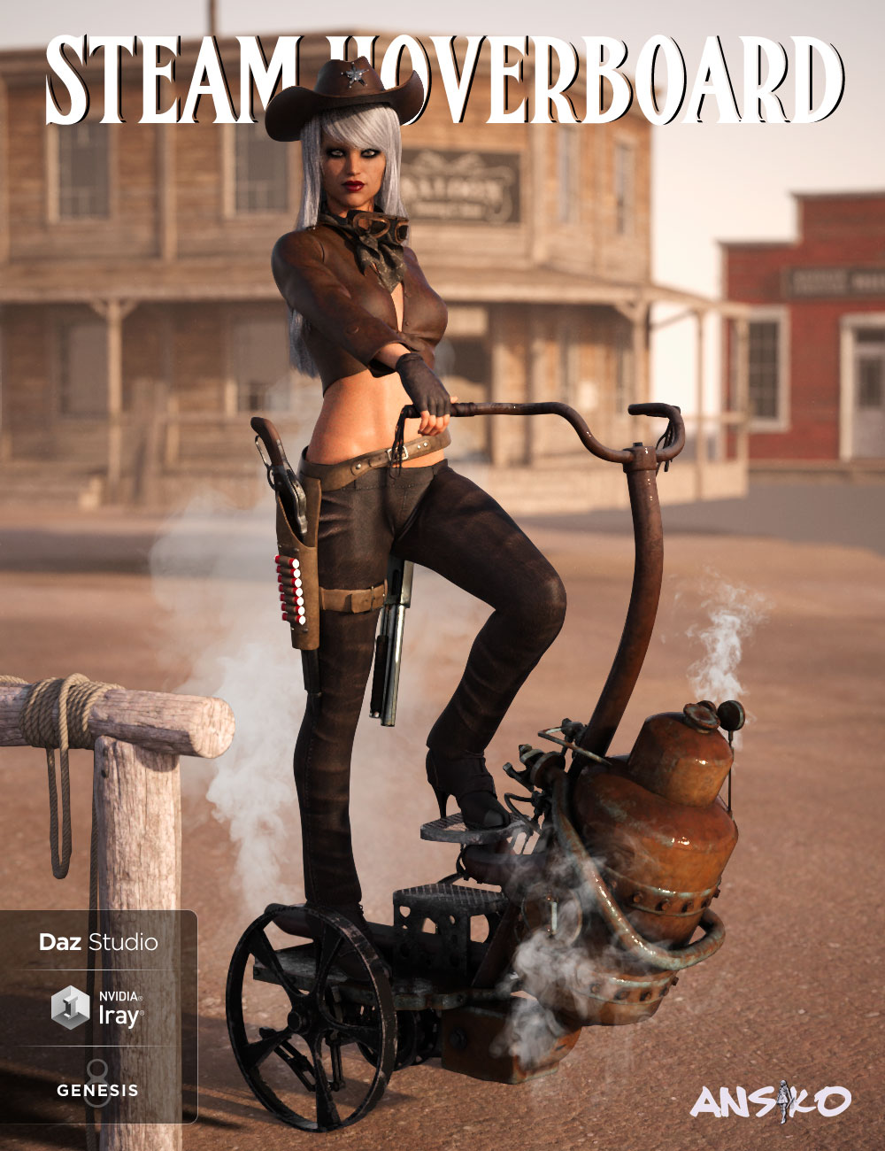Steam Hoverboard by: Ansiko, 3D Models by Daz 3D