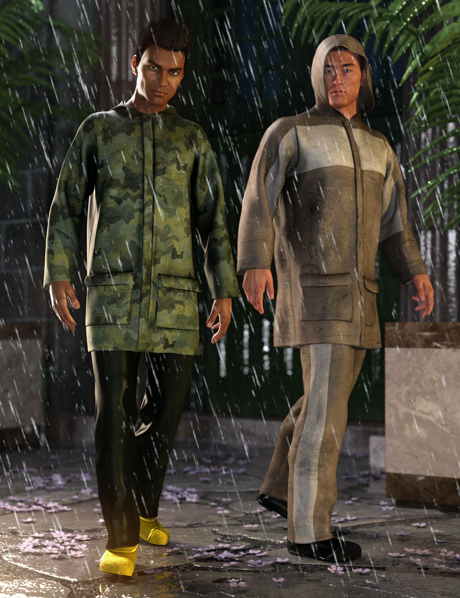 dForce Wet Weather Gear: Steward by: Shox-Design, 3D Models by Daz 3D