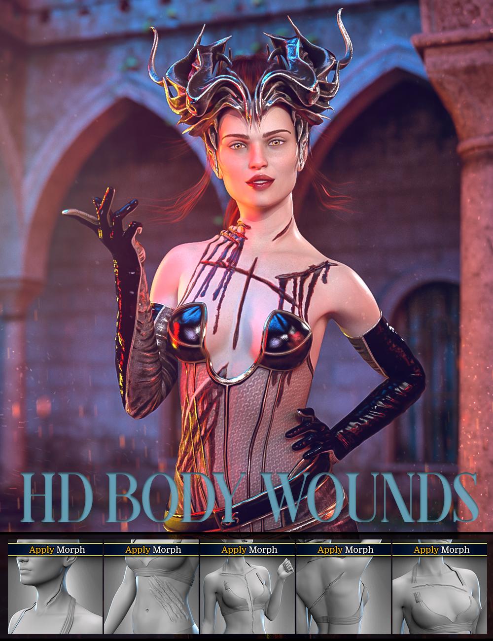 Body Wounds HD Morphs for Genesis 8 Female(s) by: FenixPhoenixEsid, 3D Models by Daz 3D