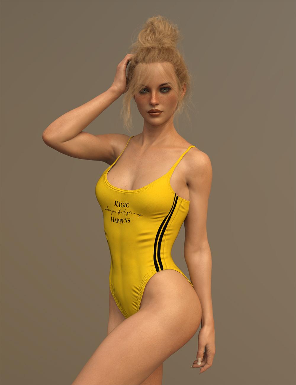 X-Fashion Inspire Bathsuit for Genesis 8 Female(s) by: xtrart-3d, 3D Models by Daz 3D