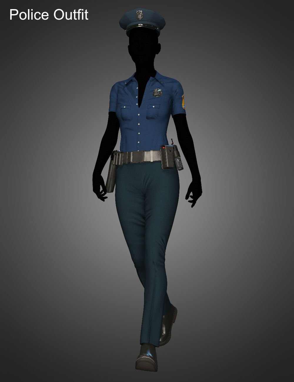 FG Police Woman Outfit for Genesis 8 Female(s) by: Fugazi1968Ironman, 3D Models by Daz 3D