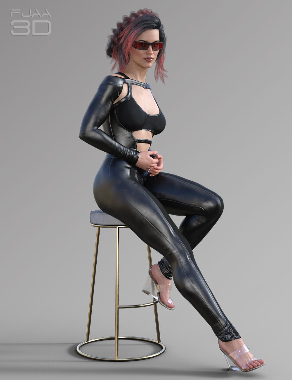 Elegant Skinny Jumpsuit for Genesis 8 Female(s) by: fjaa3d, 3D Models by Daz 3D