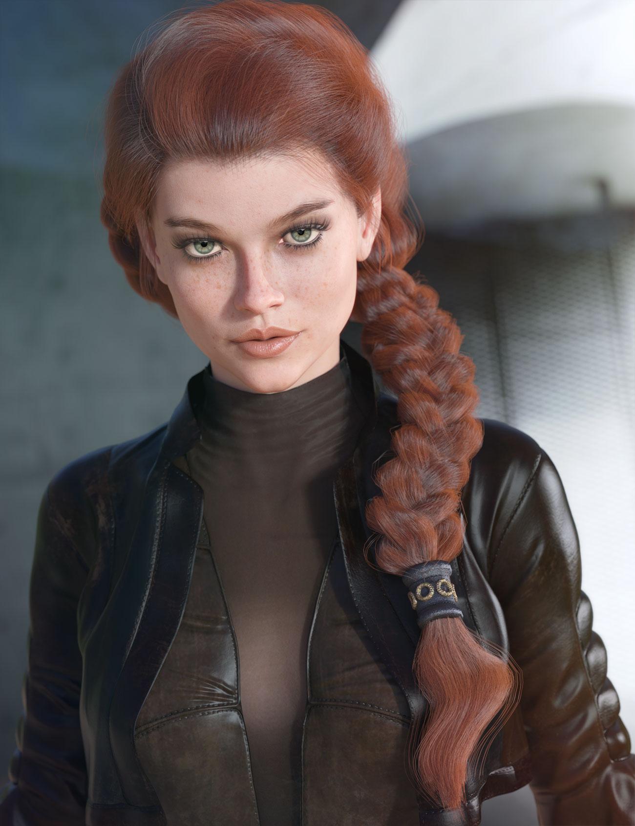 dForce Tara Hair for Genesis 3 and 8 Female(s) by: Tristan Liu, 3D Models by Daz 3D